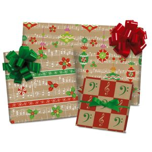 On a Festive Note Flat Gift Wrap Sheets