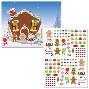 Gingerbread House Background Scenes and Stickers