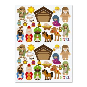 Build-a-Nativity Sticker Sheets - BOGO