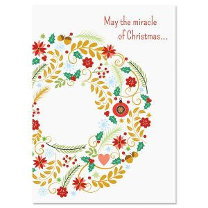 Wreath Wishes Christmas Cards