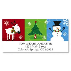 Reindeer and Friends Deluxe Address Labels