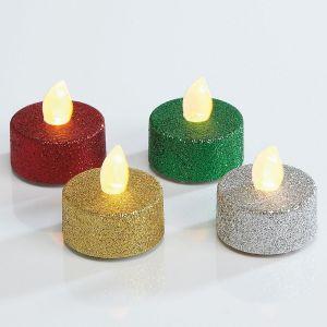 Glittered LED Tealights