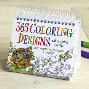 365 Coloring Designs Perpetual Calendar