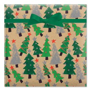 Crafty Trees Jumbo Rolled Gift Wrap