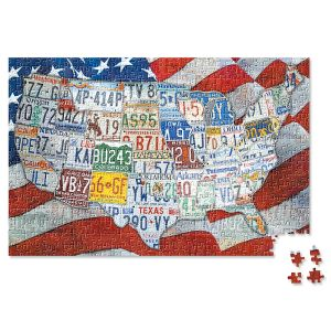 USA License Plates Puzzle