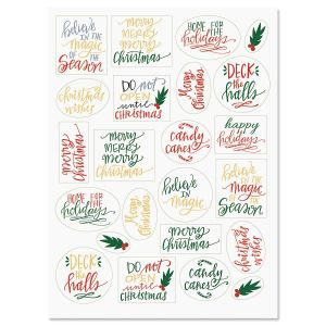 Holiday Lettering Stickers