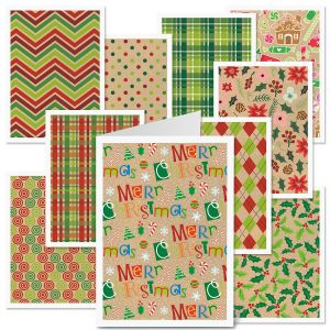 Christmas Kraft-Look Cards Value Pack