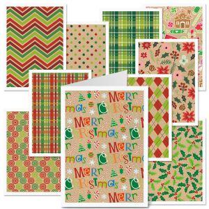 Christmas Kraft-Look Cards Value Pack