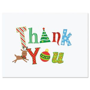 Reindeer Thank You Note Cards