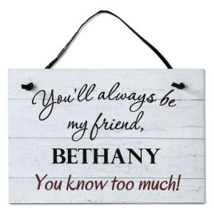 Personalized Friend Plaque