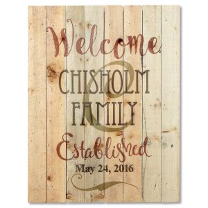 Personalized Established Plaque