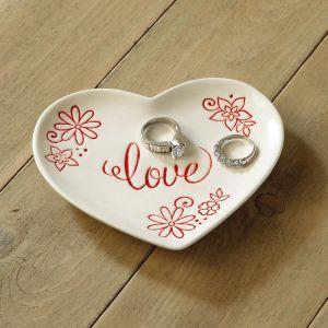 Ceramic Heart Trinket Dish