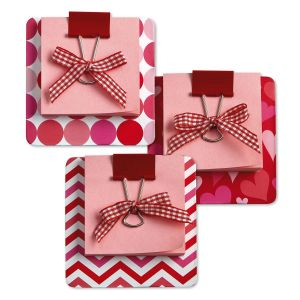 Pink Sticky Notes on Coasters