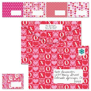 Assorted Heart Prints Envelopes
