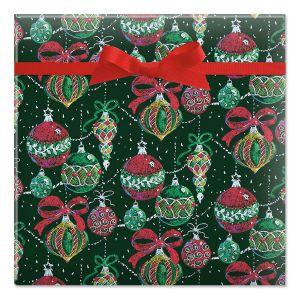 Chalkboard Ornaments Jumbo Rolled Gift Wrap
