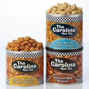 Set of 3 Flavored Roasted Peanuts