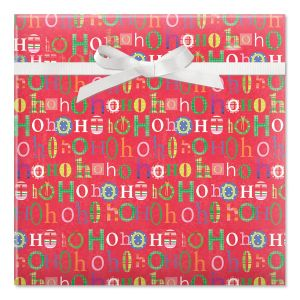 Fun Ho Ho Hos Rolled Gift Wrap