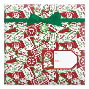 Do Not Open Until Christmas Jumbo Rolled Gift Wrap