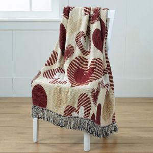 Heart Woven Throw