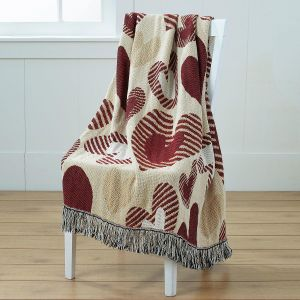 Woven Heart Throw