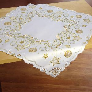 Square Gold Ornament Table Linen