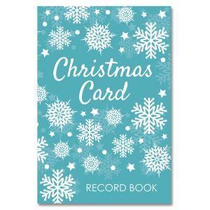 Snowflake Christmas Card Record Book