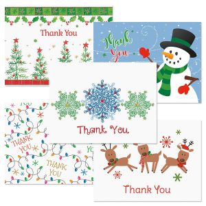 Christmas Season Thank You Note Cards