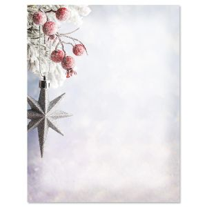 Frosted Berries Christmas Letter Papers