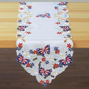 Patriotic Butterflies Table Runner