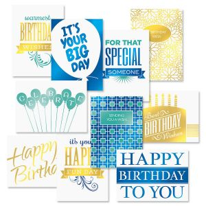 Deluxe Birthday Cards Value Pack