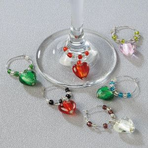Heart Wine Charms