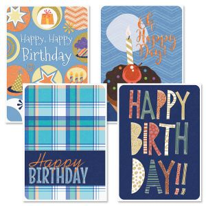 Denim & Plaid Birthday Cards and Seals