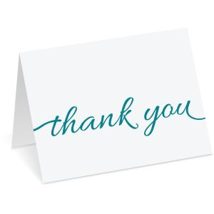 Script Thank You Note Cards