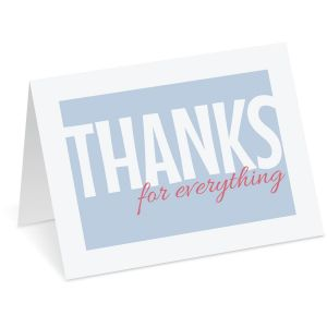 Everything Thank You Note Cards