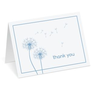 Dandelion Thank You Note Cards