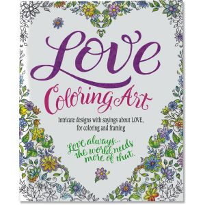 Love Coloring Book