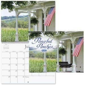 2018 Peaceful Porches Wall Calendars