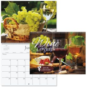 2018 Wine Lovers Wall Calendar