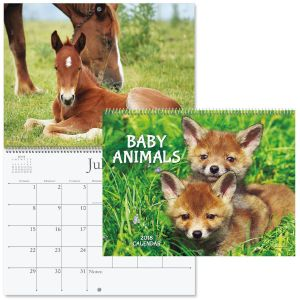 2018 Baby Animals Wall Calendar