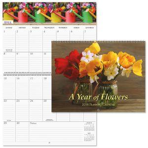 2018 Floral Big Grid Calendar