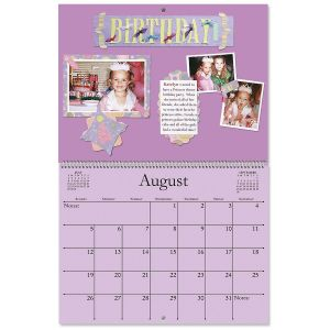 2018 Blank Colored Page Scrapbooking Calendar