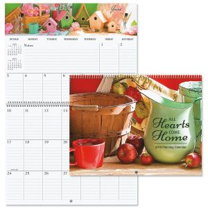 2018 All Hearts Come Home Big Grid Planning Calendar