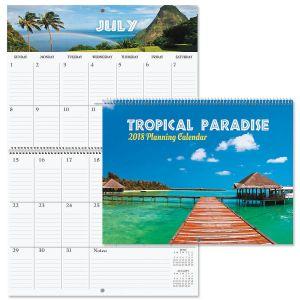 2018 Tropical Big Grid Planning Calendar