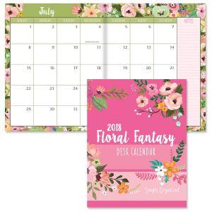 2018 Floral Fantasy Desk Calendar