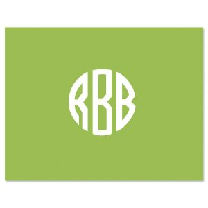 Monogram Central Note Cards