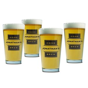 Beer Pint Personalized Glasses - Home Brew