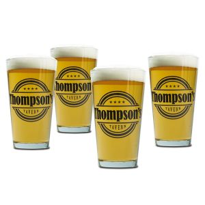 Pint Personalized Beer Glasses - Tavern