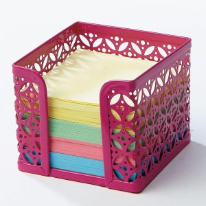 Bright Pink Memo Paper Holder