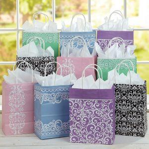 Vintage Patterns Gift Bags