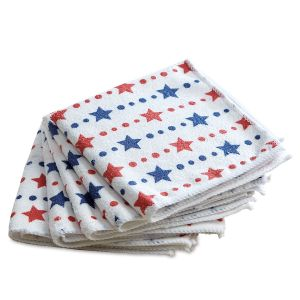 Patriotic Red & Blue Microfiber Cloths